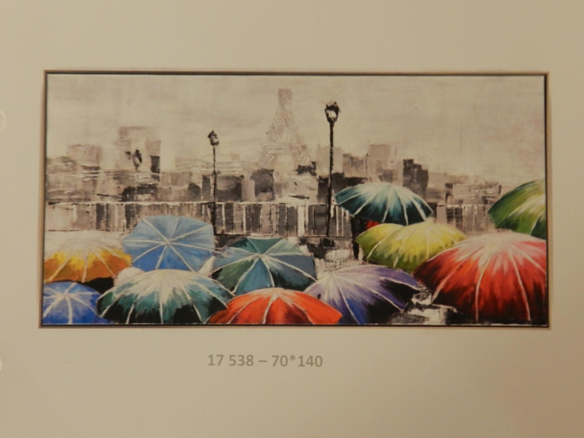 Tableau parapluies